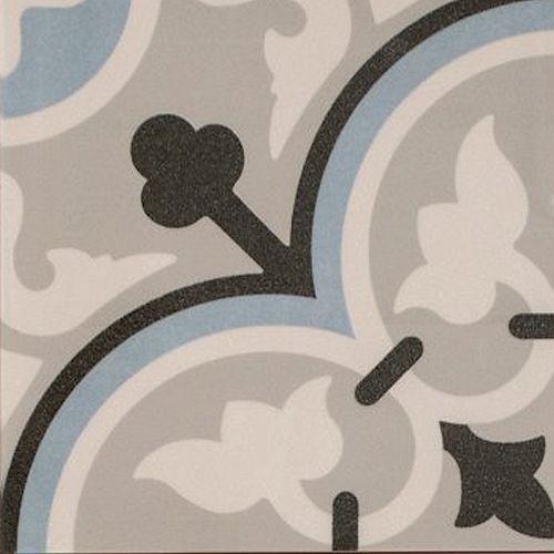 Arte Midelt Blue 7-7/8-Inch X 7-7/8-Inch Porcelain Floor & Wall Tile (11.19 Sq. Ft./ Case)