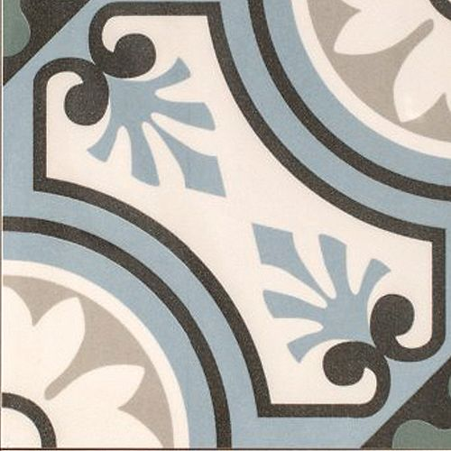 Arte Moulay Blue 7-7/8-Inch X 7-7/8-Inch Porcelain Floor & Wall Tile (11.19 Sq. Ft./ Case)