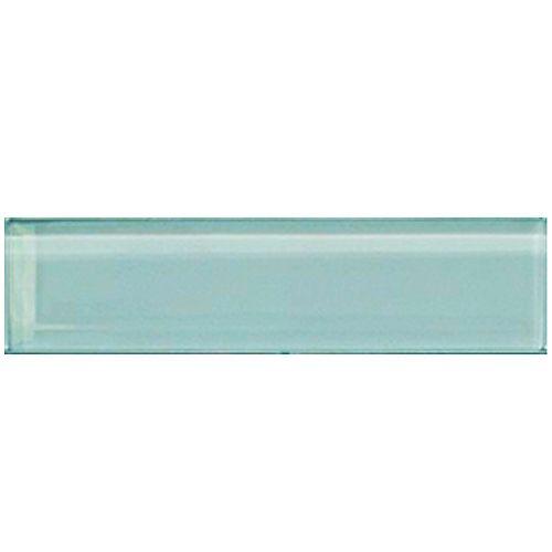 Carreau pour murs Bottle, 1 9/10 po x 7 4/5 po, verre, bleu aqua