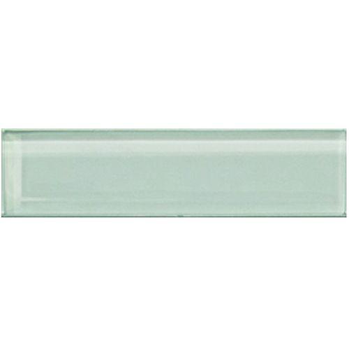 Carreau pour murs Bottle,  2 po x 8 po, verre, vert