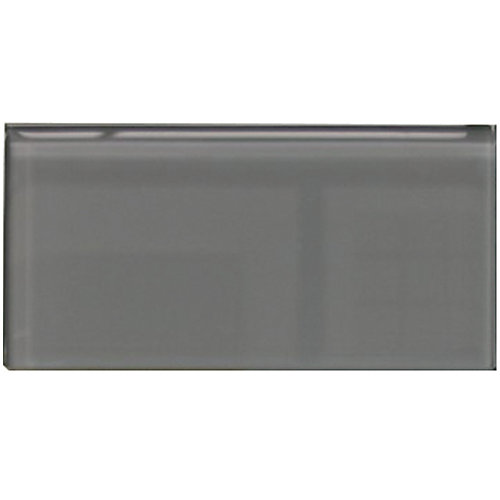 Bottle Charcoal Grey3-inch x 6-inch Glass Wall Tile
