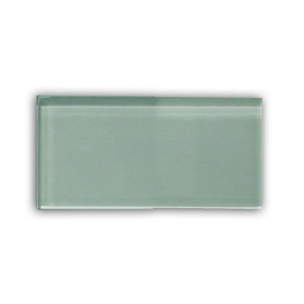 Modamo Carreau pour murs Bottle, 3 po x 6 po, verre, vert