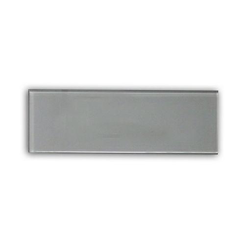 Carreau pour murs Bottle, 4 po x 12 po, verre, gris