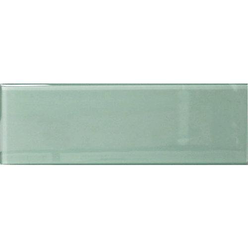 Carreau pour murs Bottle, 3 7/8 po x 11 3/4 po, verre, vert