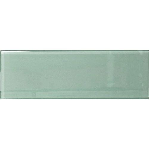 Carreau pour murs Bottle,4 po x 12 po, verre, vert