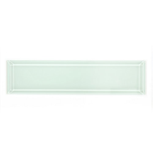 Riva Beveled White 2-9/10-inch x 11-3/4-inch Glass Wall Tile