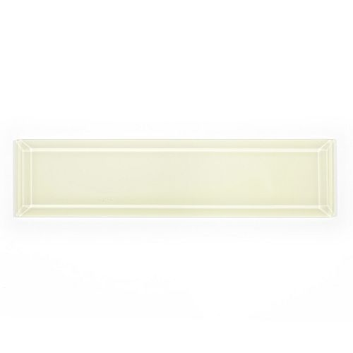 Carreau pour murs Riva biseauté, 3 po x 12 po, verre, blanc ivoire