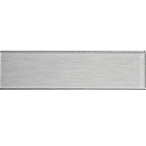 Carreau pour murs Acadia, 4 po x 15 3/4 po, verre, gris