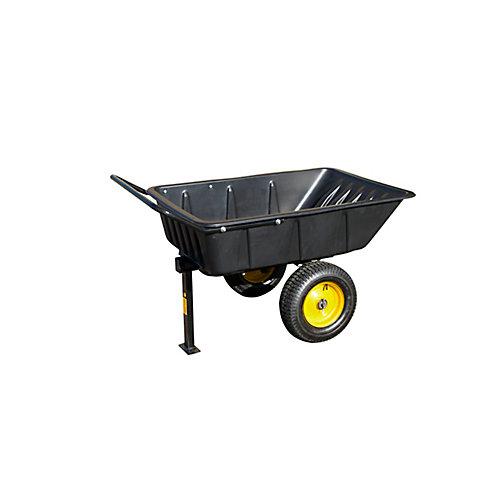 Remorque tractable hybride - Chariot de jardinage LG600