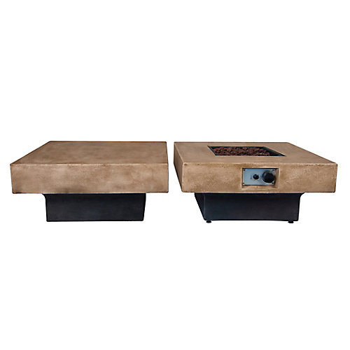 Brayden Modular Fire Table and Coffee Table Combo