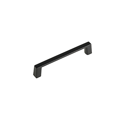 Contemporary Metal Pull 4-Inch (102 mm) CtoC - Matte Black - Eglinton Collection