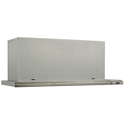 36-in 300 CFM Slide-out range hood in stainless steel