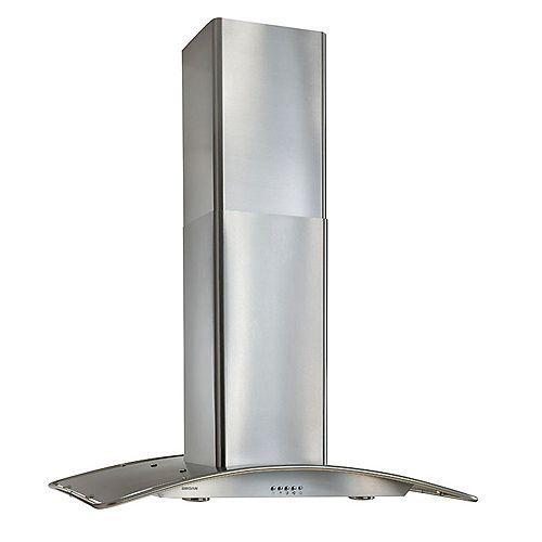 36-in 450 CFM Island-style range hood in stainless steel
