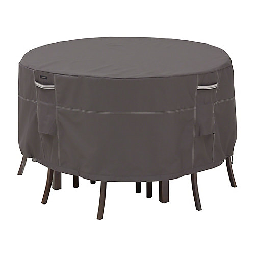 Ravenna Tall Round Table Set Cover - Outdoor Furniture Cover with Water Resistant Fabric, Small