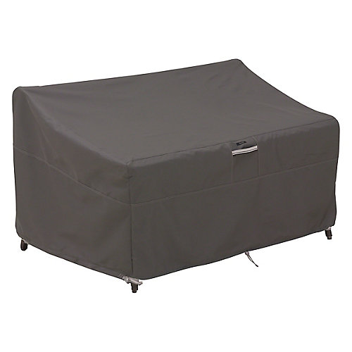 Ravenna Deep Seated Loveseat Cover - Outdoor Furniture Cover with Water Resistant Fabric, Medium