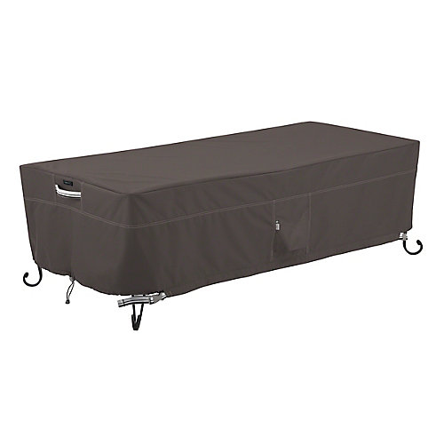 Ravenna 60 inch Rectangular Fire Pit Table Cover - Outdoor Cover with Water Resistant Fabric