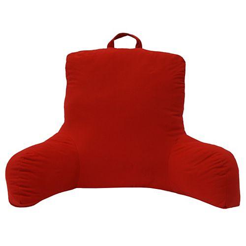 Plush Bedrest, Red, 24 inch x 19 inch x 21 inch