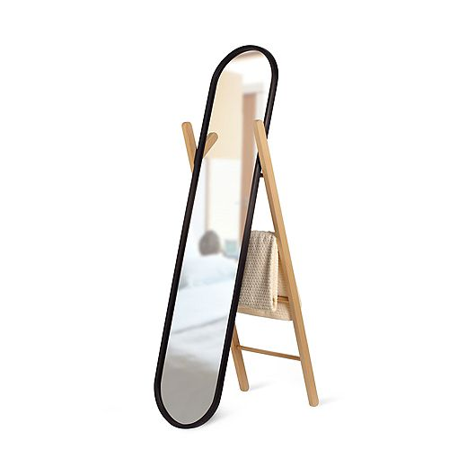 Hub Floor Mirror Black/Natural