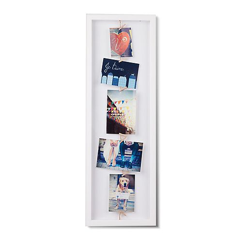Clothesline Flip Photo Display White