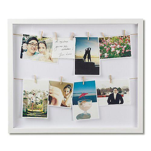 Clothesline Photo Display White