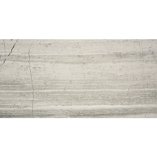 Carreaux pour murs et sols Wooden White, 5 9/10 po x 11 4/5 po, marbre poli