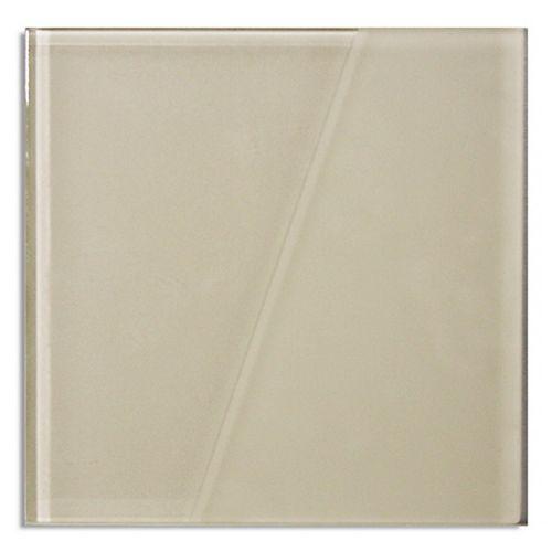 Carreaux pour murs Duette, 5 9/10 po x 5 9/10 po, verre semi givré, blanc ivoire