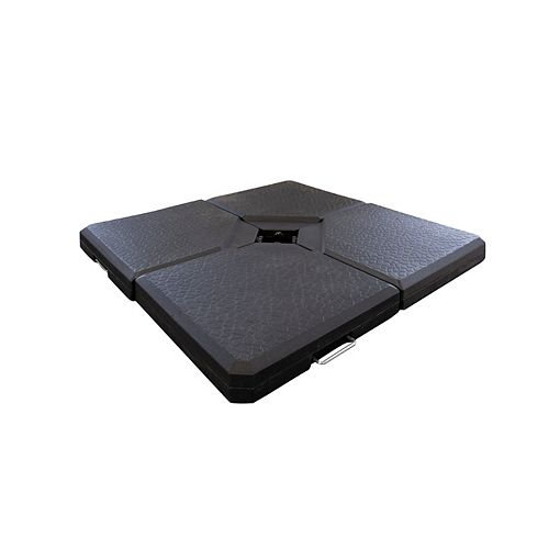 Square Offset Umbrella Base in Black (4-Pack)