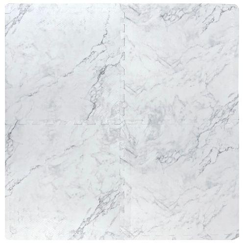 Carreau de mousse imbriqué, 24 po x 24 po, faux marbre, ens. de 4