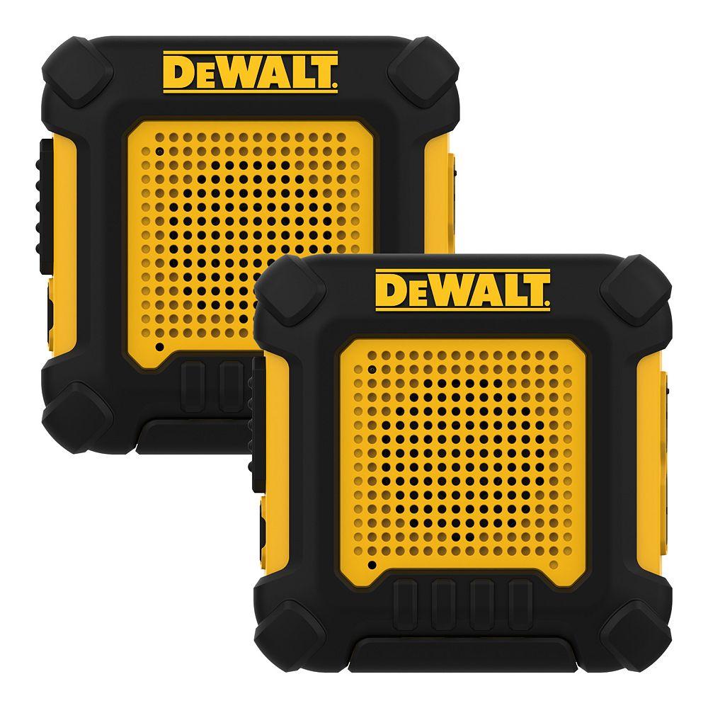 DEWALT 100,000 Sq. ft. FRS/GMRS Heavy Duty Wearable 0.5 Watt Two-Way Radio - Two Pack