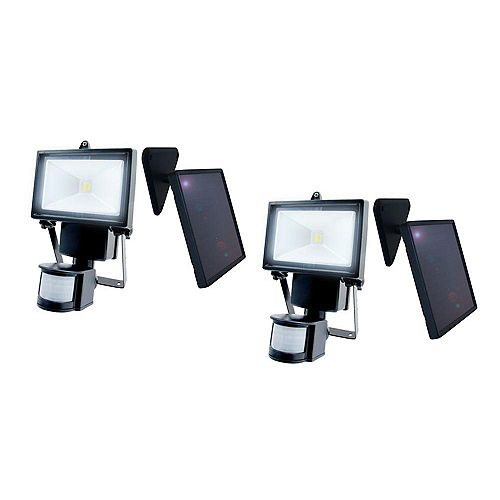 Outdoor Solar Motion Sensing Security Light with Advance LED Technology, (2-Pack)