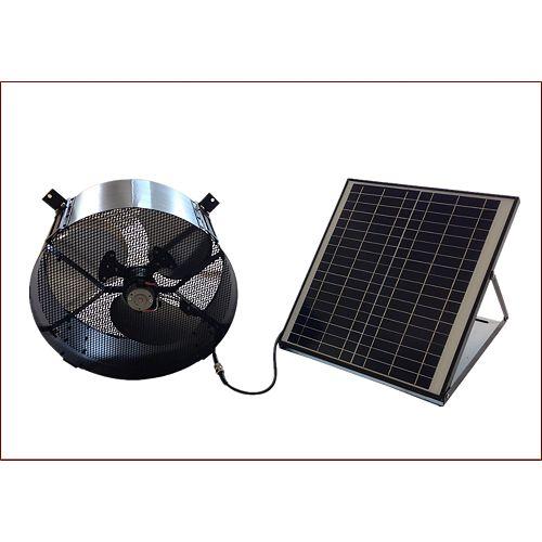 20W Polycrystalline Solar Panel & Gable Mount Attic Fan