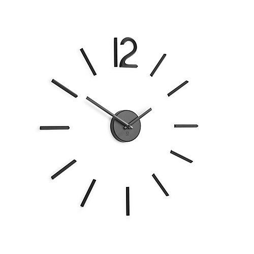 Horloge Silencieuse Blink, En Métal Noir,   Au Moins 35Cm De Diamètre.