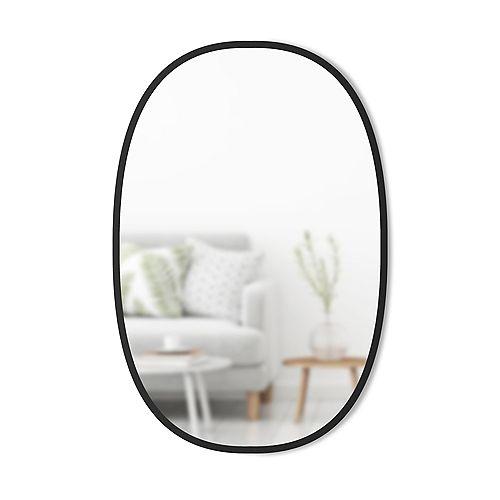 Hub Mirror Oval 24X36 Black