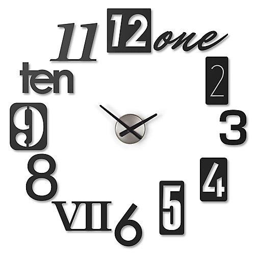 N Clock. Horloge Murale Silencieuse N. 12 Chiffres