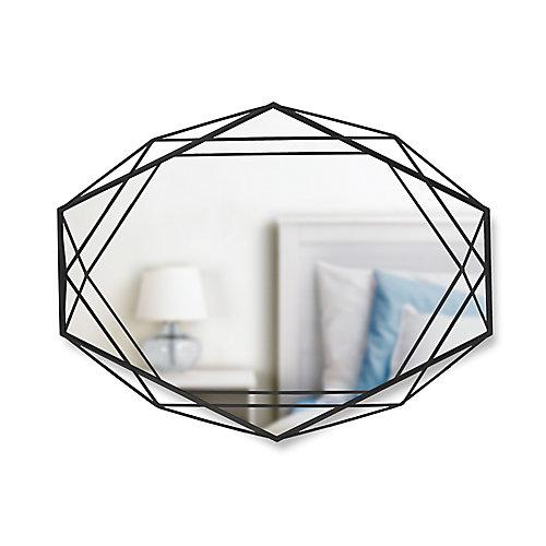 Prisma Mirror. Miroir Mural Prisma Sur Structure En Métal Noir. Dimension 57.2X43.2X9.5Cm