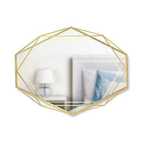 Prisma Mirror. Miroir Mural Prisma Sur Structure En Métal Doré Mat. Dimension 57.2X43.2X9.5Cm