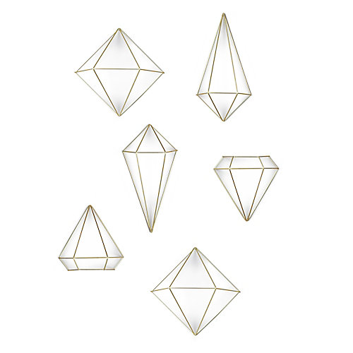Prisma Wall Decor. Jeu De 3 Mobiles Géométriques Prisma