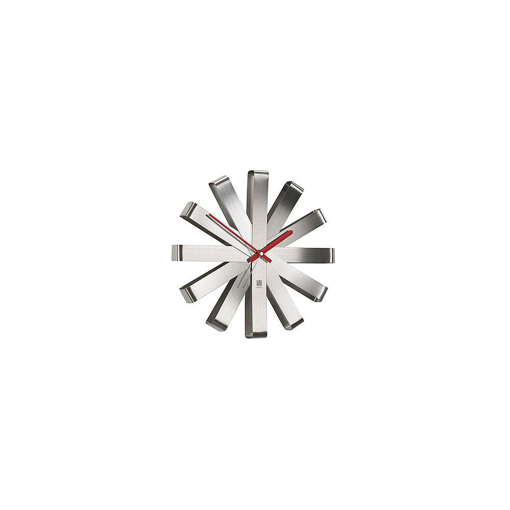 Umbra Ribbon Wall Clock 12In Steel