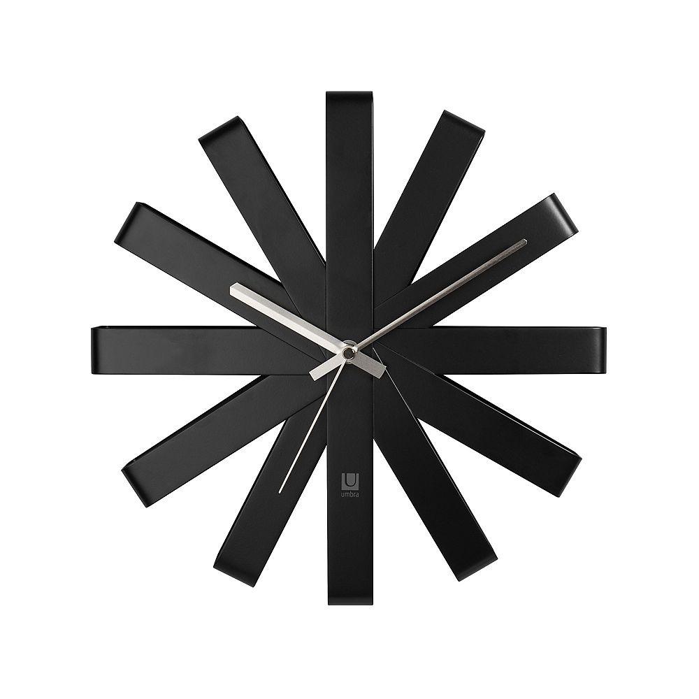 Umbra Ribbon Wall Clock 12In Black