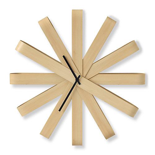 Ribbonwood Clock. Horloge Murale Silencieuse Ribbonwood