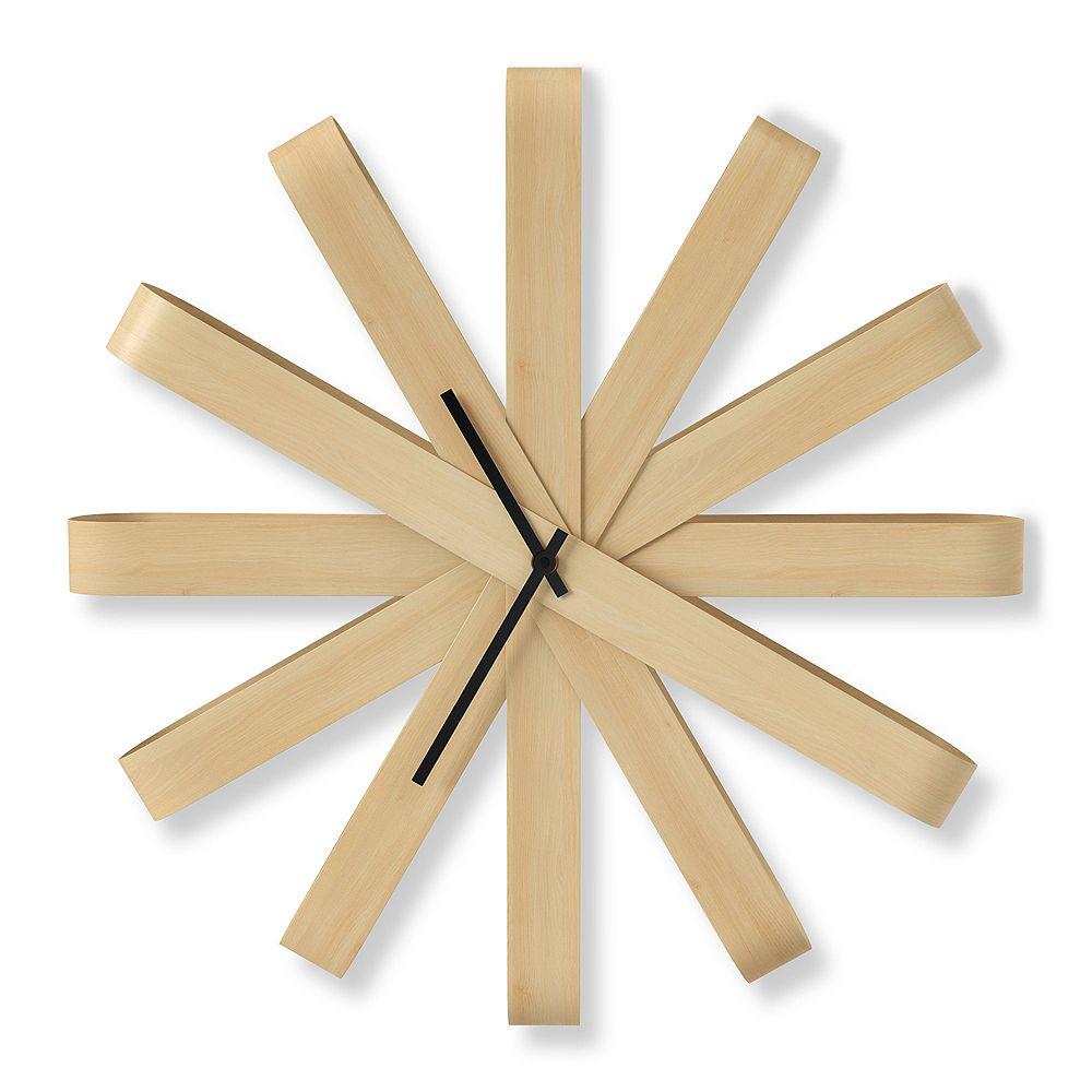 Umbra Ribbonwood Wall Clock 20.25In Natural