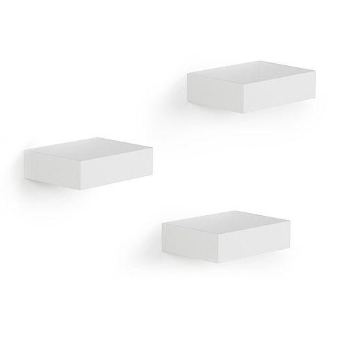 Showcase Shelves White, Set of 3