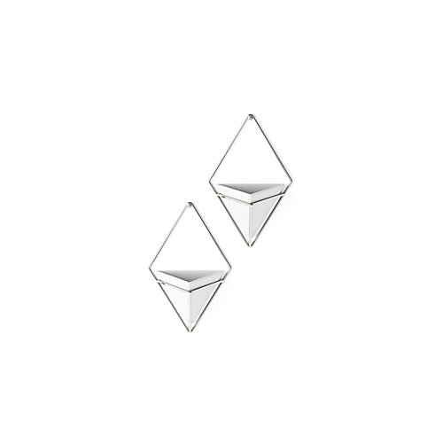 Trigg Wall Display (2) Small White/Nickel