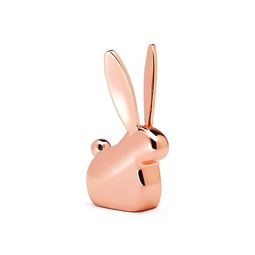 Anigram Bunny. Porte-Bagues Lapin En Métal Cuivré, Dimension  Environ 4.5X4.5X7.6Cm