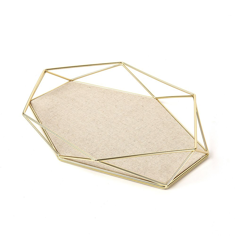 Umbra Prisma Jewelry Tray Matte Brass