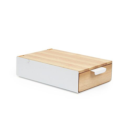 Reflexion Storage Box White/Natural
