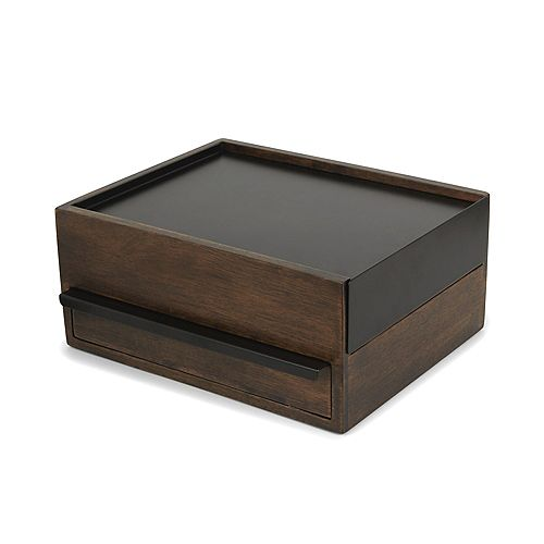 Stowit Storage Box Black/Walnut