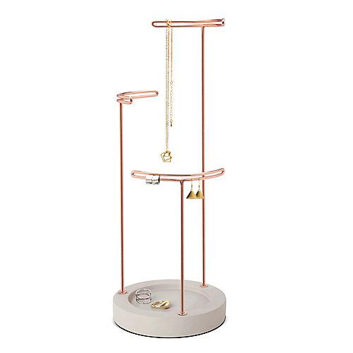 Tesora Jewelry Stand Concrete/Copper