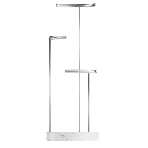 Tesora Jewelry Stand White/Nickel