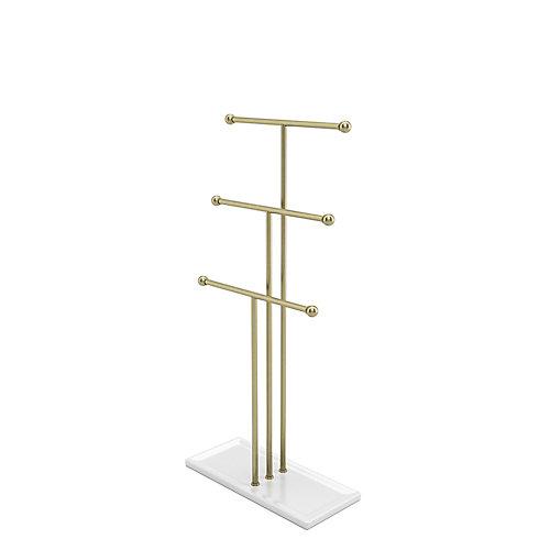 Trigem Jewelry Stand White/Brass